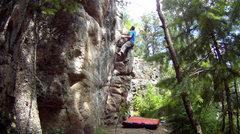 Rock Climbing Photo: Layback Crack, V0.
