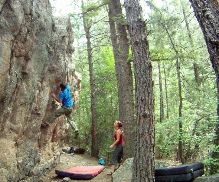 Rock Climbing Photo: Climbing Sinister Minister - V3.