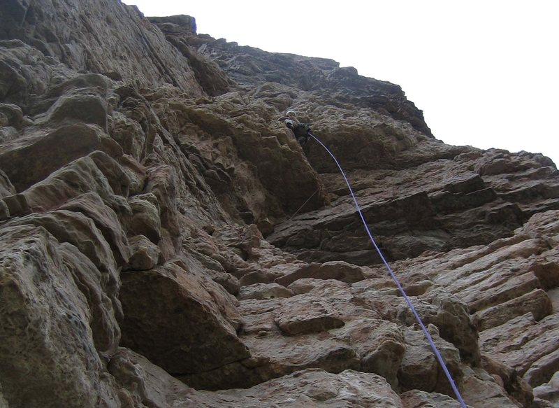 Rock Climbing Photo: Scott on the Triple Bypass.