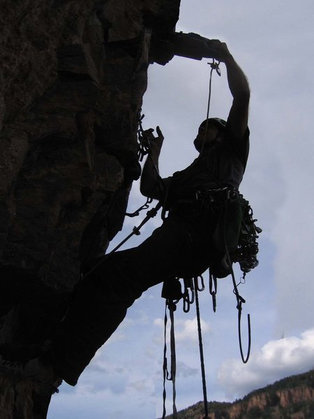 Rock Climbing Photo: Equipping pitch 6.