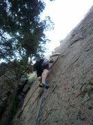 Rock Climbing Photo: First Lead... The low gear is only to keep the hoo...