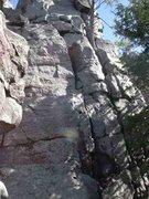 Rock Climbing Photo: Follow the left crack.