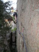 Rock Climbing Photo: End of the crux jug and a nice big cam.  With any ...