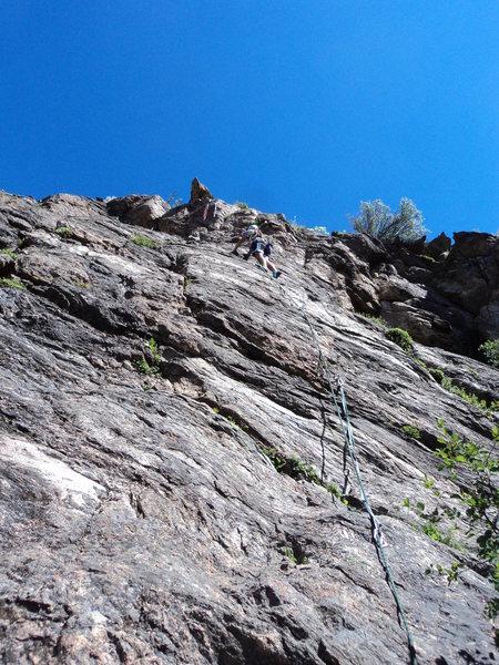 Rock Climbing Photo: Slabbing.