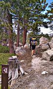 Rock Climbing Photo: Follow the cairn trail to the climbers trail