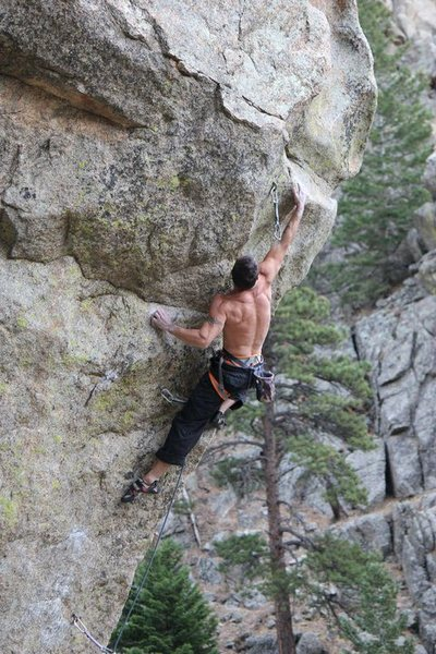 Rock Climbing Photo: Sending Lucid Dreaming 5.12d Boulder Canyon, CO