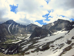 Rock Climbing Photo: A pano of Glacier Gorge