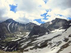 Rock Climbing Photo: A pano of Glacier Gorge