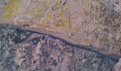 Rock Climbing Photo: Lichen in the eye