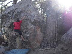 Rock Climbing Photo: Carlo Rivas on Karma Redux, Enlightenment Ridge, P...