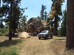 Rock Climbing Photo: Enlightment Ridge campsite, Enlightenment Ridge, P...