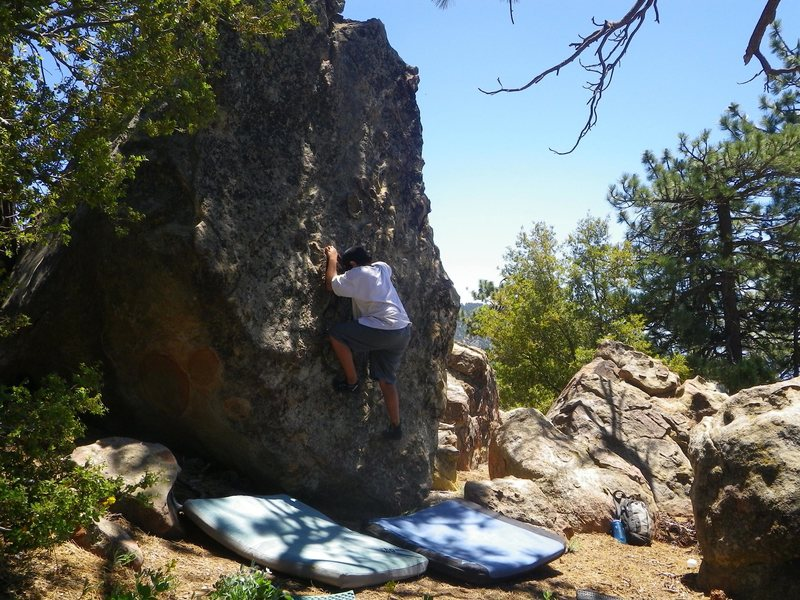 Carlo Rivas on Gooze Bumps, Enlightenment Ridge, Pine Mountain.