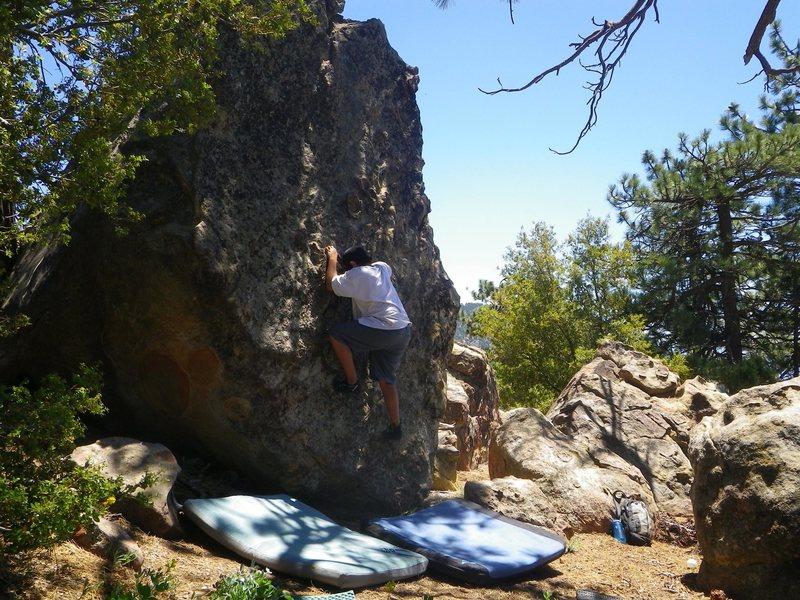 Carlo Rivas on Gooze Bumps, Enlightenment Ridge, Pine Mountain.