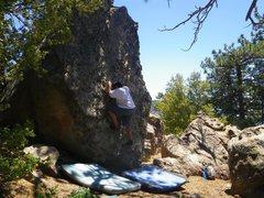 Rock Climbing Photo: Carlo Rivas on Gooze Bumps, Enlightenment Ridge, P...