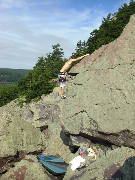 Rock Climbing Photo: Movin' up.