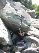 Rock Climbing Photo: First move.