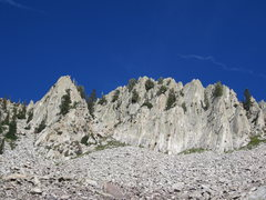 Rock Climbing Photo: Red Pine Crag with Pillar to the left.