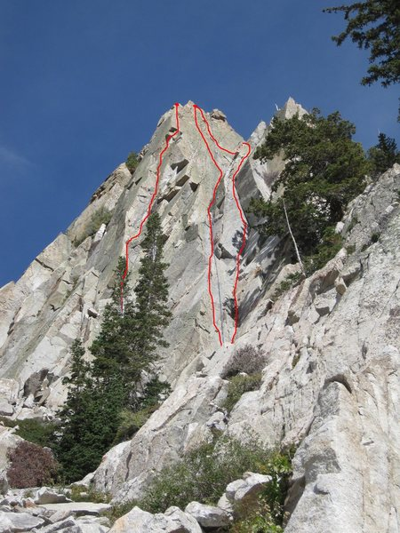 Rock Climbing Photo: Chateau Lafille 5.10- Right most route