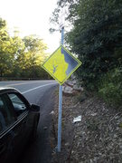 Rock Climbing Photo: Falling Climber Sign on 44/55
