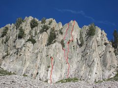 Rock Climbing Photo: Romanee-Conti 5.8 Middle route. Same start as Vino...
