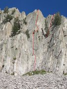 Rock Climbing Photo: Vino Santo 5.9 Other descent line marked upper rig...