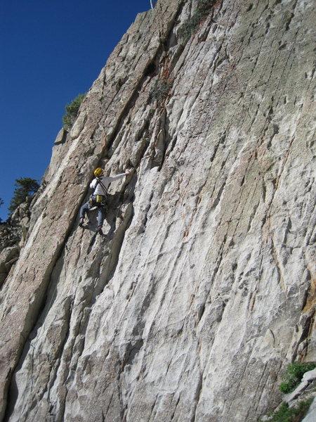 Nice climbing, perfect rock.