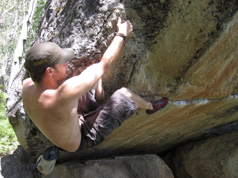 Rock Climbing Photo: Shane Niedert on Camp Teo.