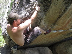 Rock Climbing Photo: Shane Niedert on Camp Teo.