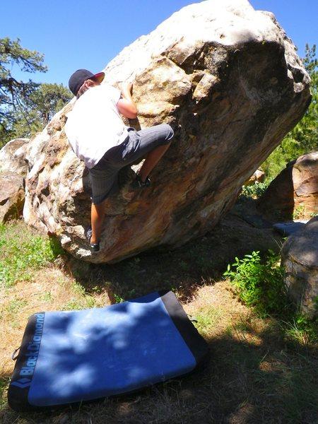 Carlo Rivas on Flabby Cabby, Enlightenment Ridge, Pine Mountain.