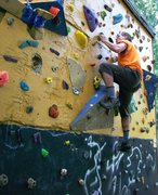 Rock Climbing Photo: Added features on wall this July.