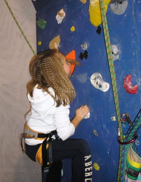 Rock Climbing Photo: Tough problem ahead