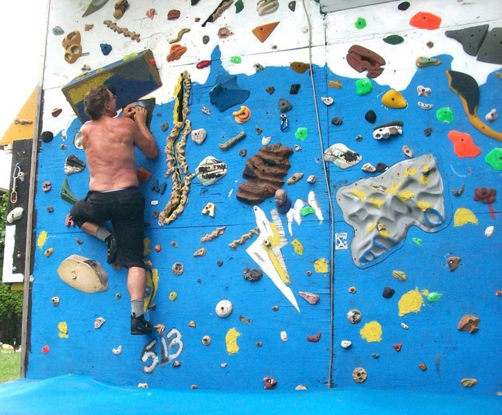 Rock Climbing Photo: West wall improvements this summer