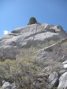 Rock Climbing Photo: A poor pic of the line (the dead center splitter) ...