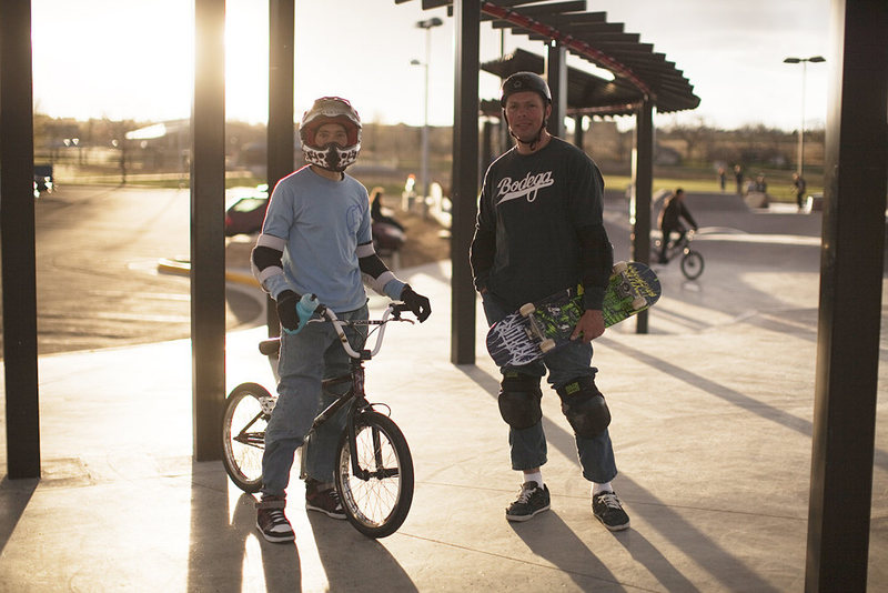 Jay and I at the skatepark....  Photo: Chris Sessions.<br>