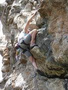 Rock Climbing Photo: Jim S. on Choss Pile Right, 5.10.