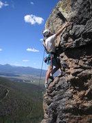 Rock Climbing Photo: George on 'round the Corner, 5.8.