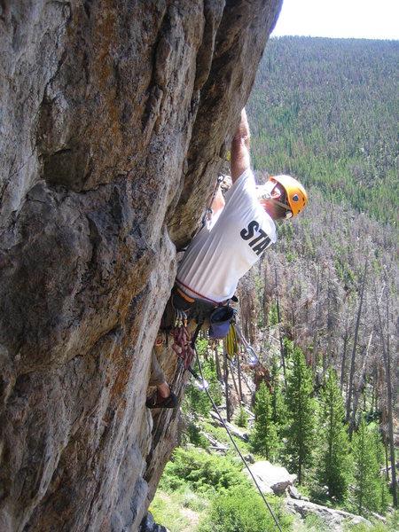 Rock Climbing Photo: Lefty, 5.10.  Photo credit: Mark Hudson.