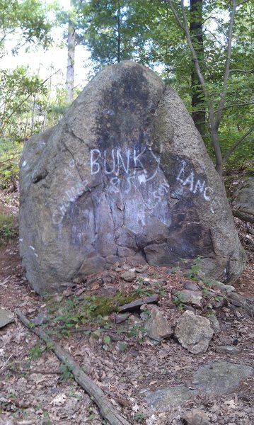The Bunky Boulder.<br> A great place to warm up.