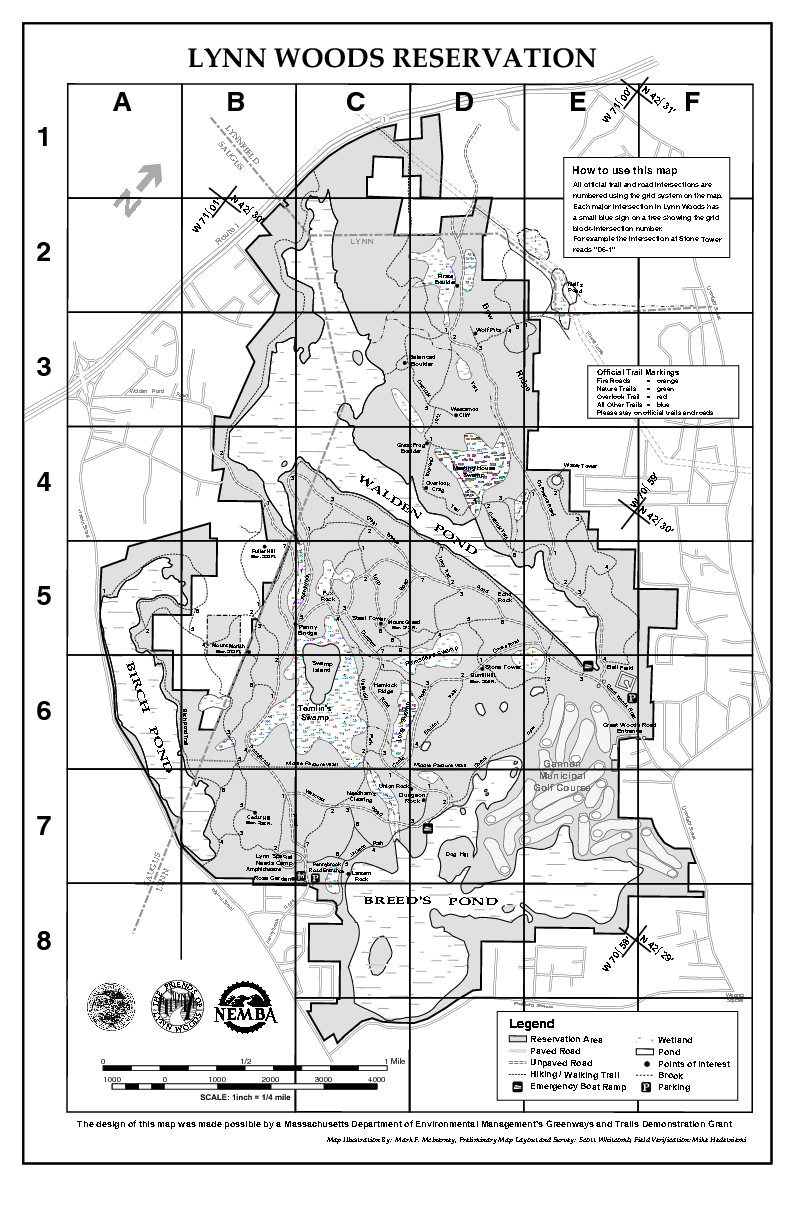 Rock Climbing Lynn Woods map Visit for more