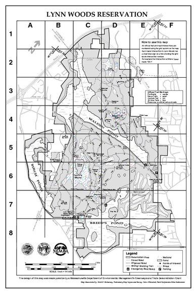 Rock Climbing Photo: Lynn Woods map.  Visit flw.org for more informatio...
