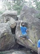 Rock Climbing Photo: Jesse R. on the Dank Arete.