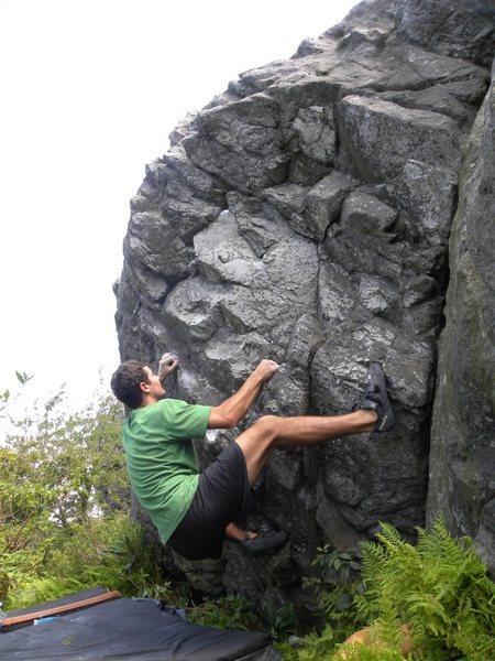 Rock Climbing Photo: Chris Komanski in the Sunset Area