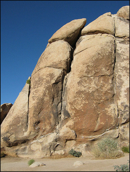 Rock Climbing Photo: Wallaby Crack is the crack in the center. Photo by...