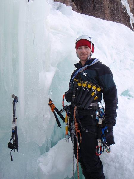 Rock Climbing Photo: Jay leading Bridalveil Falls.