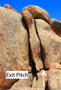 Rock Climbing Photo: The exit pitch.