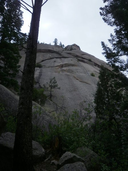 Rock Climbing Photo: Unknown 5.8, left of Let Me Cry.