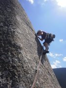 Rock Climbing Photo: Cruising P3. Good Job, Cindy!