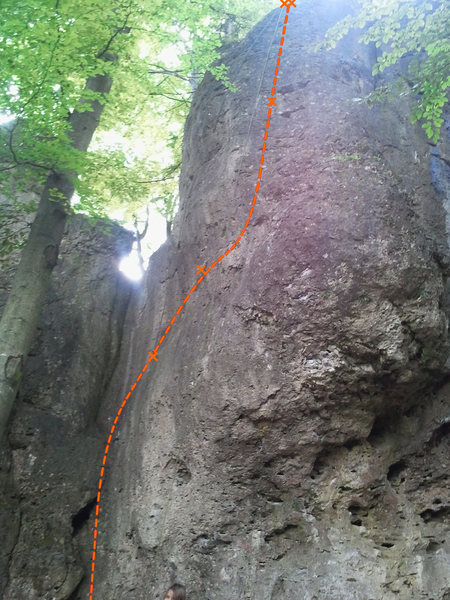 The perspective of this picture fails to show the extent of the traverse in the middle...