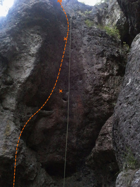 """Rock Climbing Photo: The very interesting and unique route """"Völli..."""