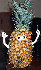 Mr. Pineapple Head ... if you've never used the toy parts with real food, I highly recommend you try it.